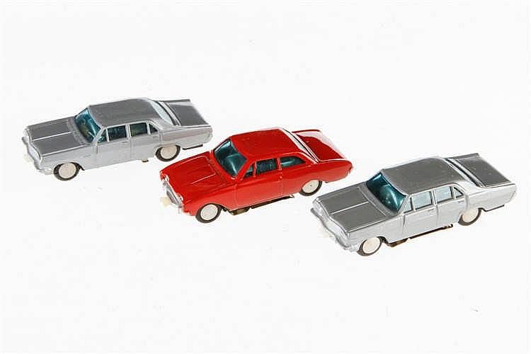 3 Faller Fahrzeuge für Rennbahn