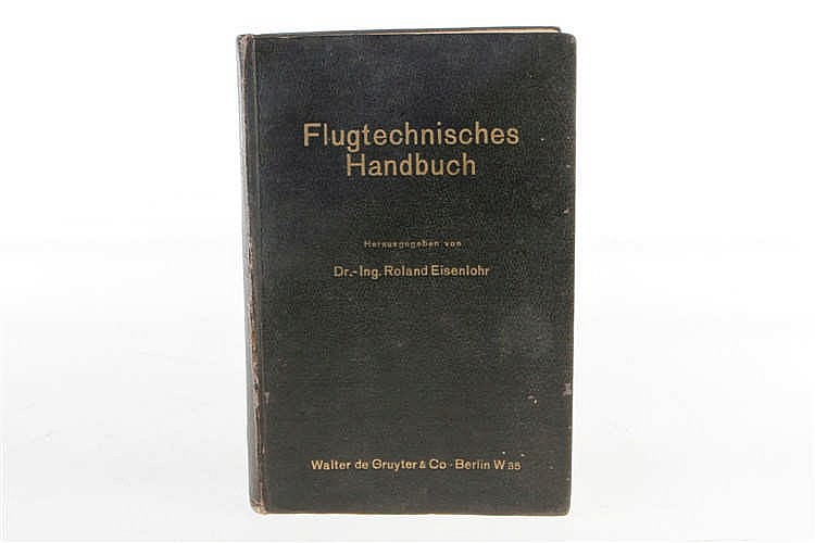"Buch ""Flugtechnisches Handbuch"" 1937"