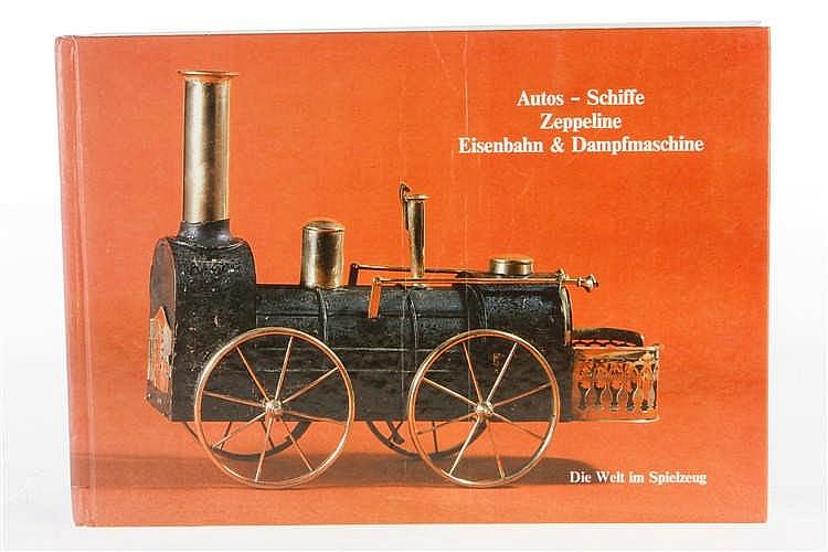 """Buch """"Autos - Schiffe Zeppeline Eisenbahn & Dampfmaschine"""" 1986"""