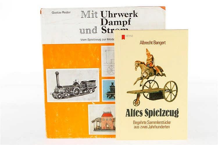 """2 Bücher """"Altes Spielzeug"""" und """"Mit Uhrwerk Dampf und Strom"""""""