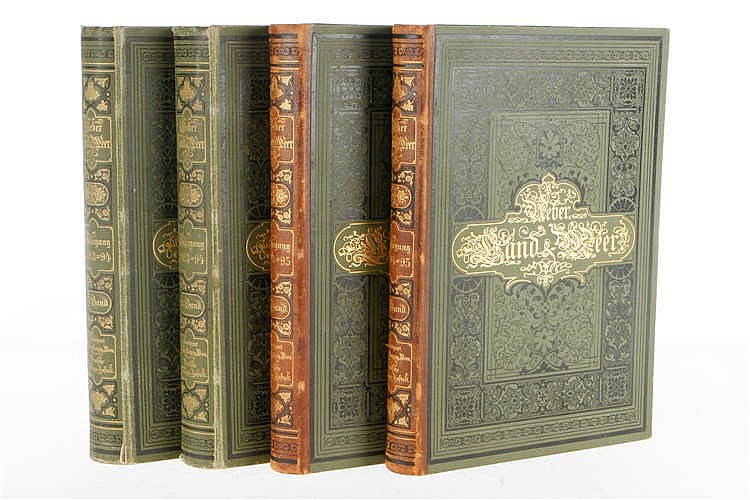 """4 Bände """"Über Land und Meer"""" 1893-1895"""