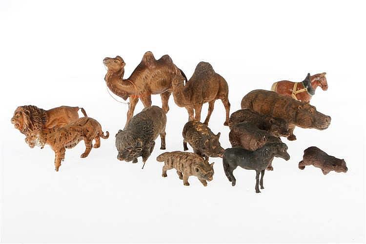 Konv. 13 versch. Tiere
