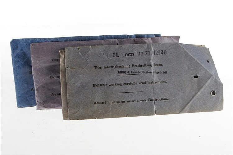 5 Beschreibungstaschen R 66/12910