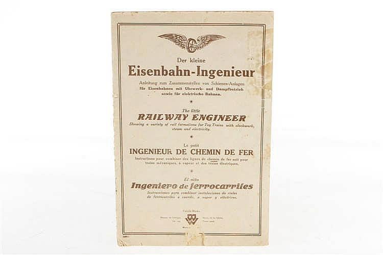 """Bing Katalog """"Der kleine Eisenbahn-Ingenieur"""""""