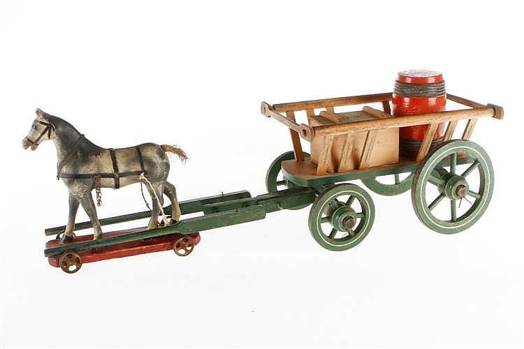 Carl Groß Leiterwagen mit Pferd