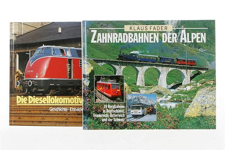 """2 Bücher """"Die Diesellokomotiven bei der DB"""" und """"Zahnradbahnen der Alpen"""""""