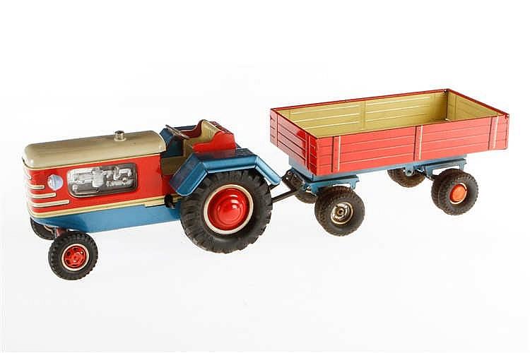 Gama Traktor mit Anhänger