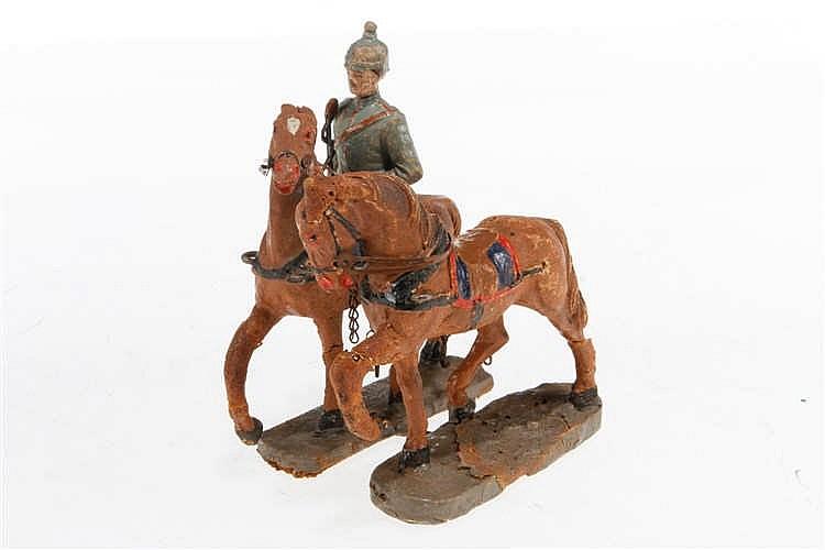 E Pferdegespann mit Soldat
