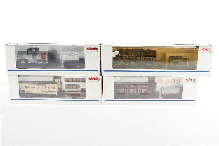 4 Märklin Museumswagen-Sets 1991/1992/1993/1994
