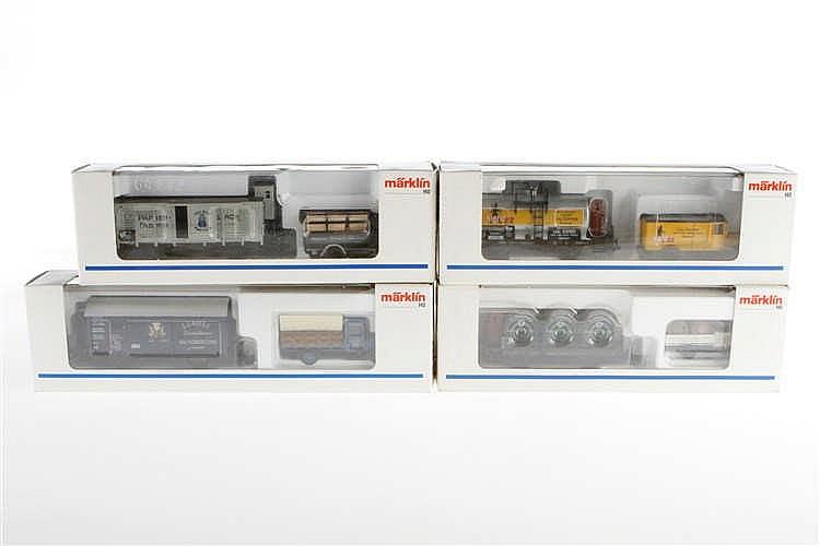 4 Märklin Museumswagen-Sets 1995/1996/1997/1998