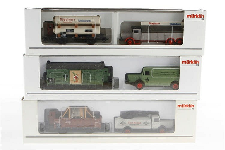 3 Märklin Museumswagen-Sets 2003/2004/2005