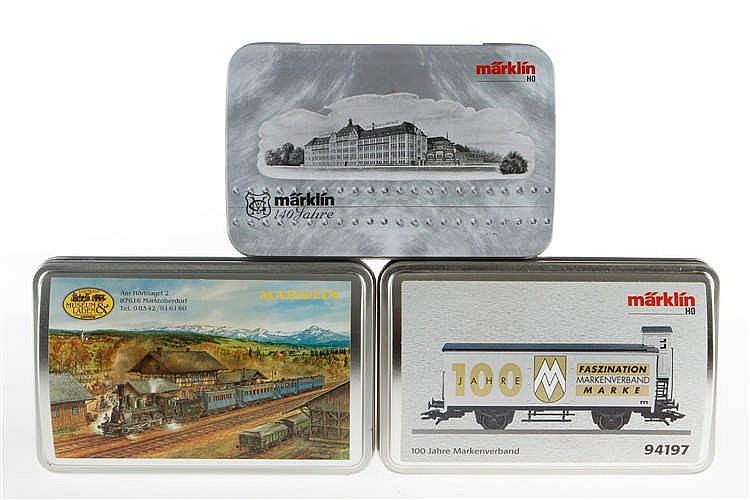 """3 Märklin Sonderwagen """"100 Jahre Markenverband"""" 94197"""