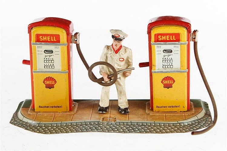 Arnold Shell Zapfsäule mit Figur