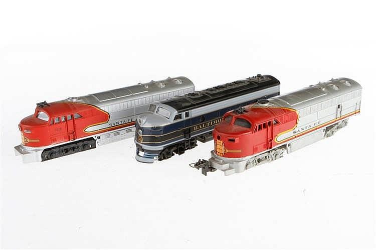 3 versch. amerikanische Diesellokomotiven