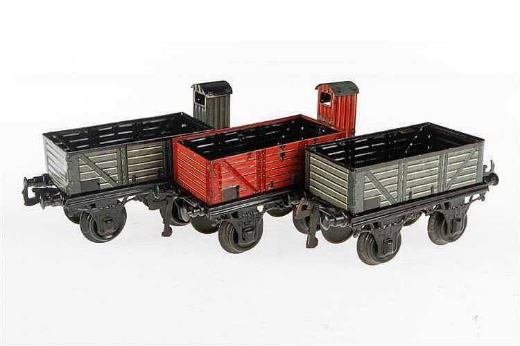 3 Bing offene Güterwagen