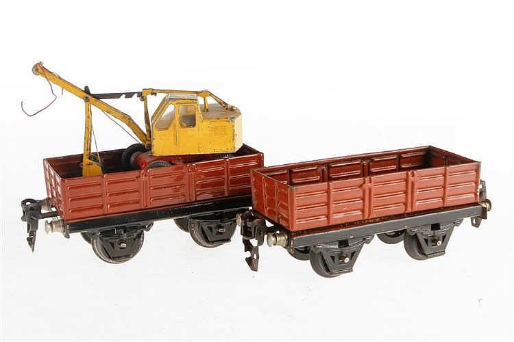 2 Märklin offene Güterwagen
