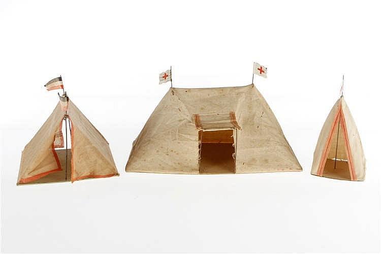 3 versch. Zelte