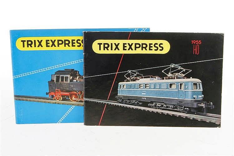 2 Trix Express Kataloge 1955 und 1956