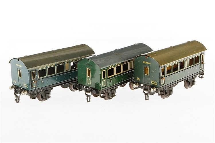 3 Märklin Personenwagen 1723 und 2 x 1725