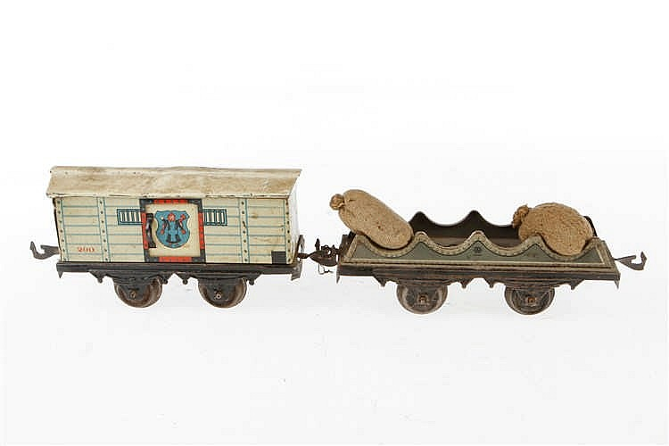 2 Bing Güterwagen