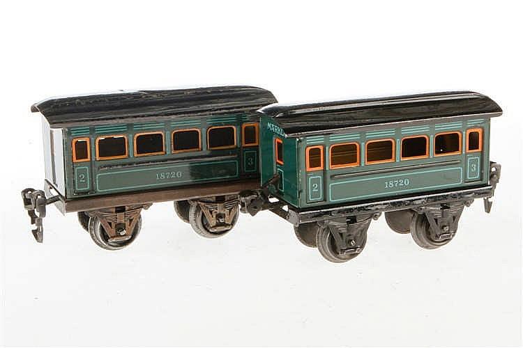 2 Märklin Personenwagen 1872