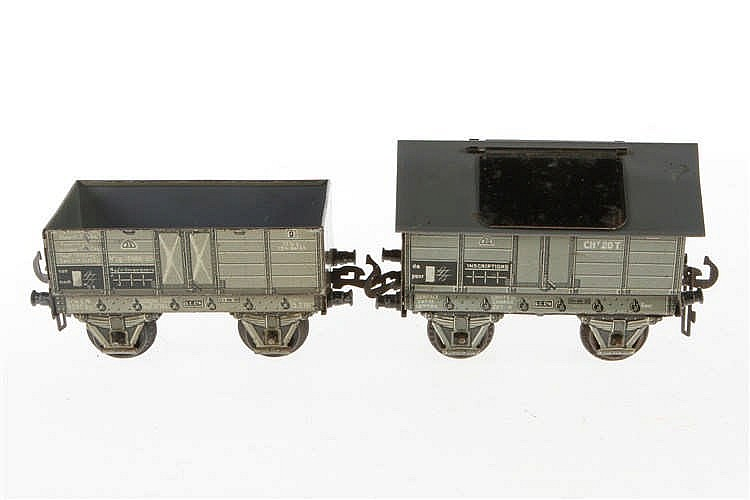 2 Carette Güterwagen