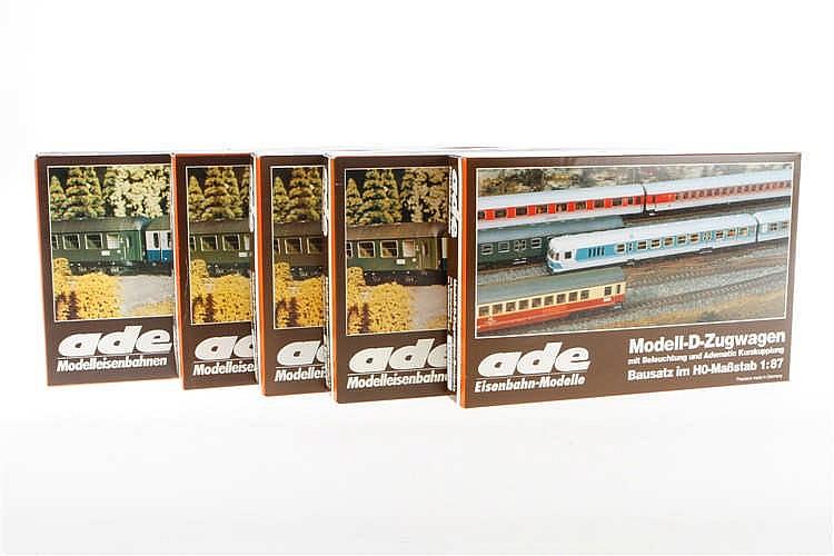 5 Ade Bausätze für D-Zugwagen