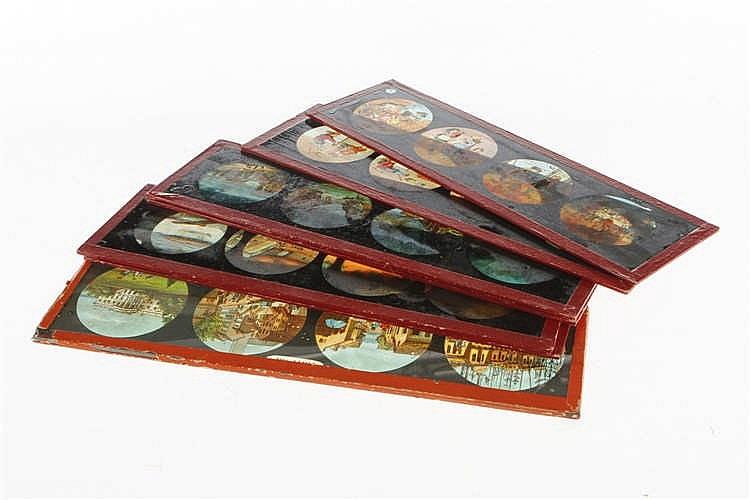 7 Glasschiebebilder für Laterna Magica