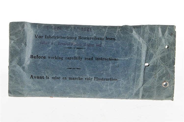 Märklin Beschreibungstasche V 65/13021