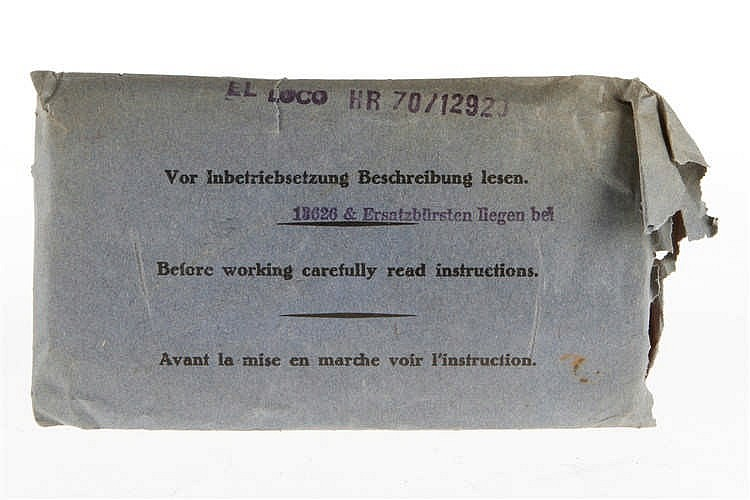 Märklin Beschreibungstasche HR 70/12920