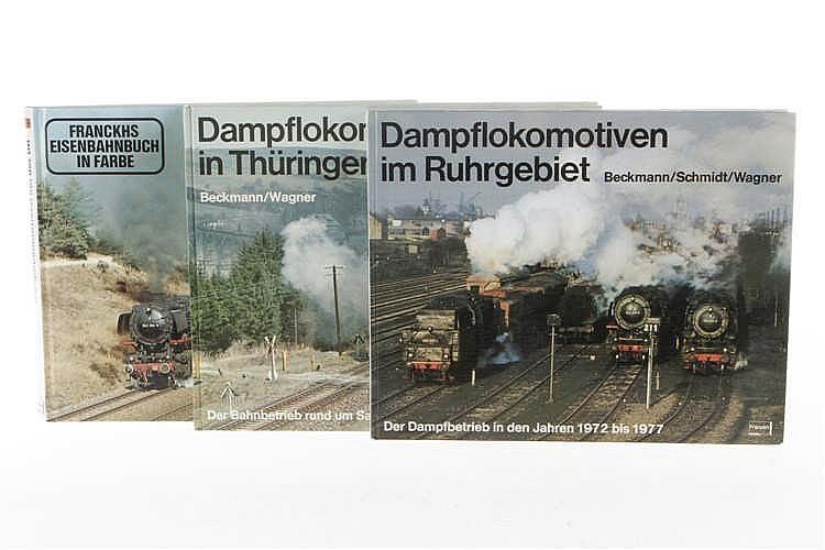 """3 Bücher """"Dampflokomotiven in Thüringen"""""""