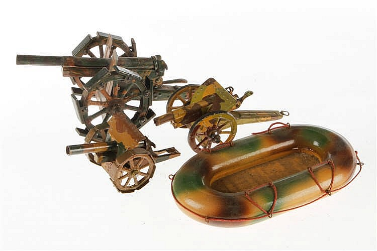 3 versch. Kanonen