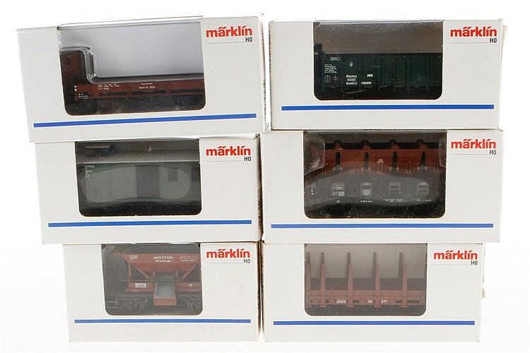 6 Märklin Güterwagen 4038/4459/4610/4635/46033/46071