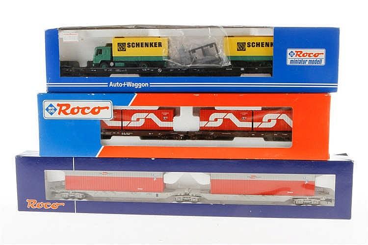 3 Roco Wagen-Sets