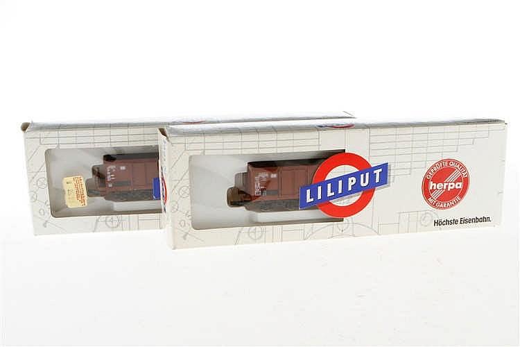 2 Liliput Güterwagen 7444 01/02