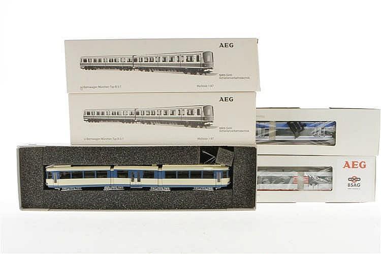 5 AEG Straßen- und U-Bahnwagen