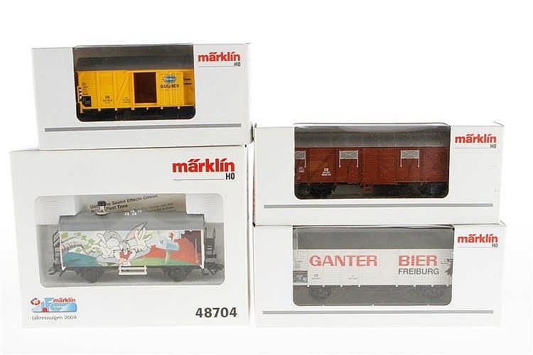 4 Märklin Güterwagen
