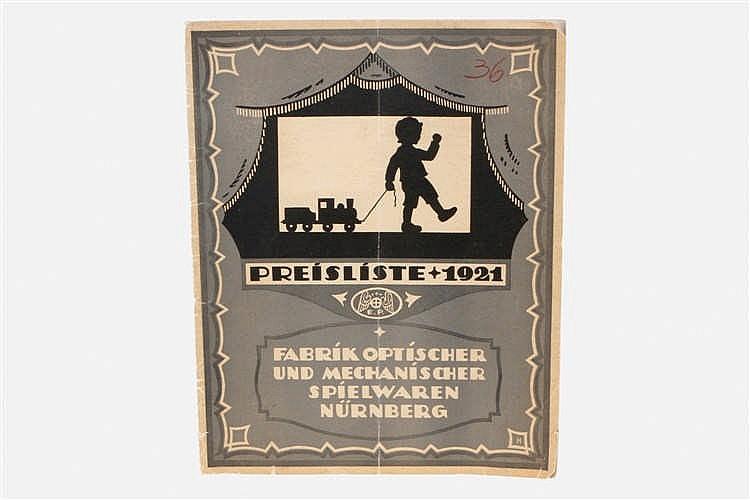 Plank Katalog/Preisliste 1921
