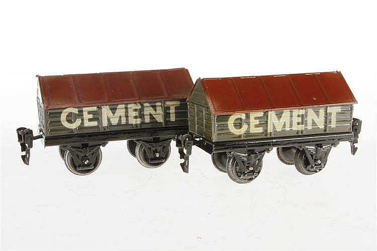 2 Märklin Zementwagen 1919