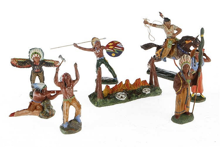 Konv. 7 Indianer und Feuerstelle