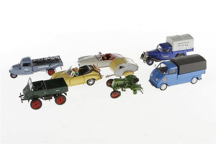Konv. 7 versch. Schuco Modellfahrzeuge