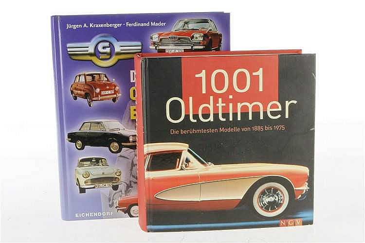 """2 Bücher """"Das große Glas-Buch"""" und """"1001 Oldtimer"""""""