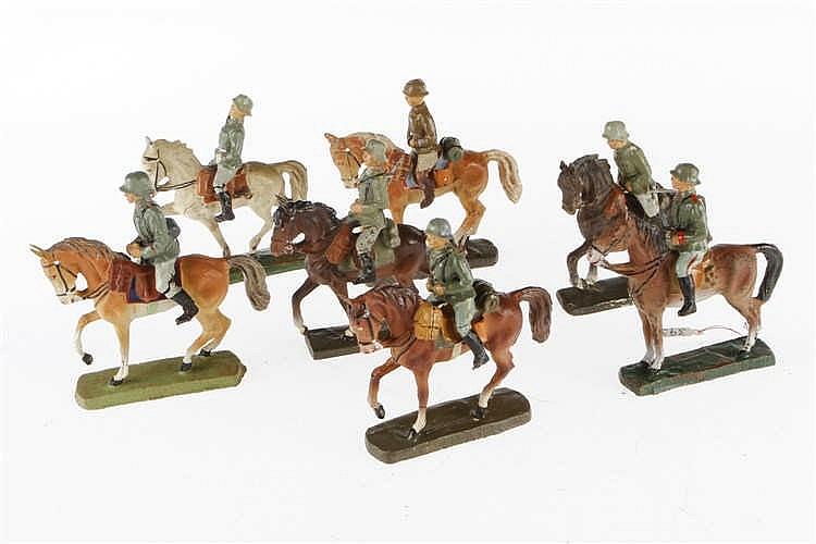 Konv. 7 E/L Soldaten zu Pferd