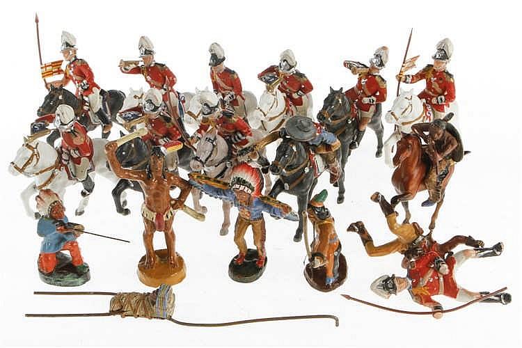 Konv. mit versch. Figuren und Pferden