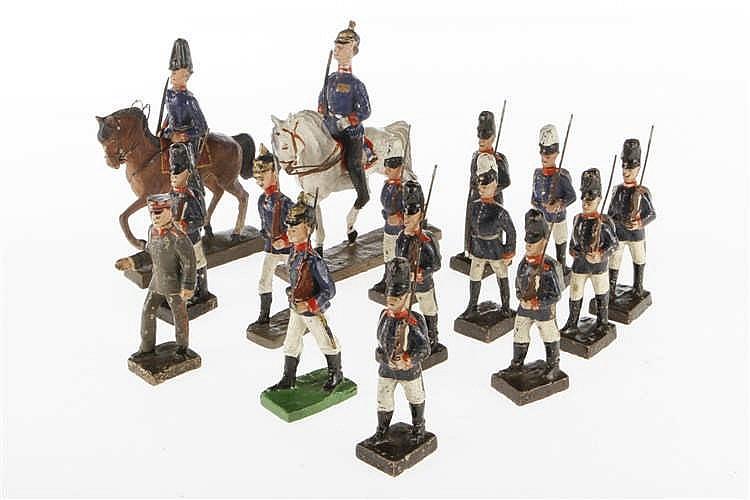 Konv. mit französischen Soldaten