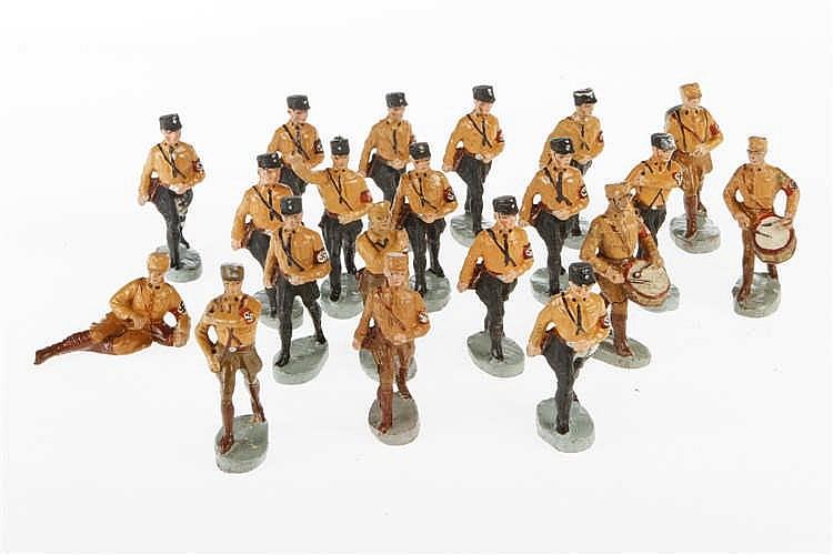 Konv. mit versch. SA-Soldaten