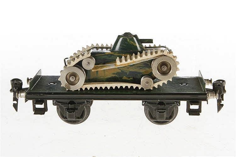 Märklin Plattformwagen mit Panzer 1984/1086