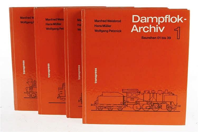 """4 Bücher """"Dampflok-Archiv"""""""