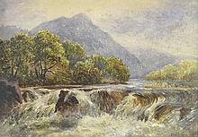 Brown, Thomas Austen (1859-1924) Écosse/Scotland - The falls of Tummel