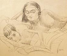 Epstein, Jacob (1880-1959) États-Unis/U.S.A Grande-Bretagne/Great Britain - Sunita and son